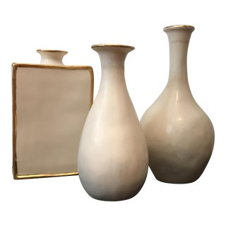 Contemporary White Vases - Set of 3