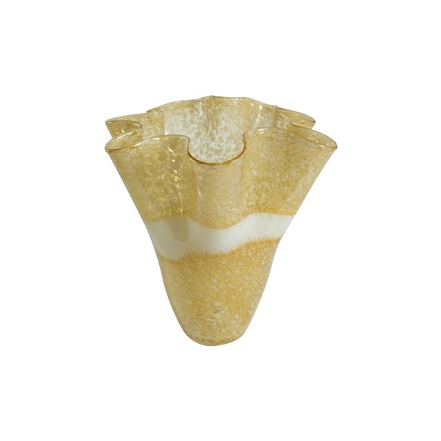 Hand-Blown Handkerchief Vase - Image 1 of 3