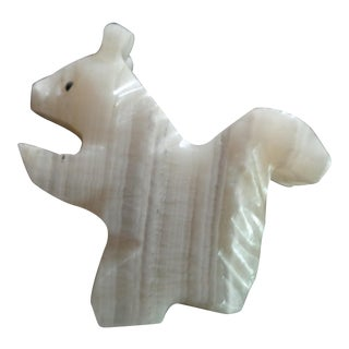 Vintage Agate Squirrel Figurine