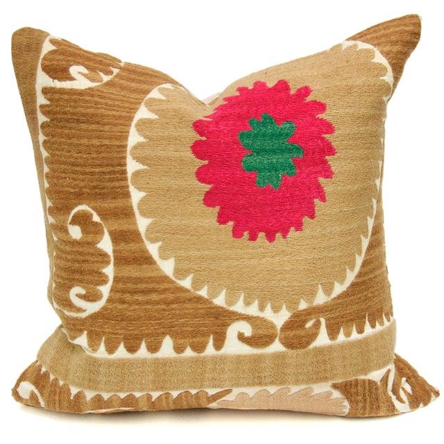 Image of Vintage Suzani Daisy Pillow