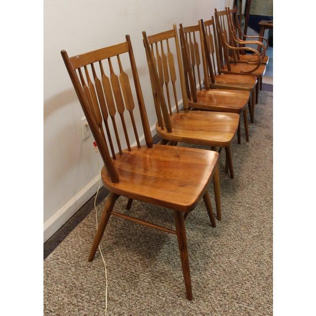 Kipp Stewart Paddle Back Chairs - Set of 6 - Image 6 of 11