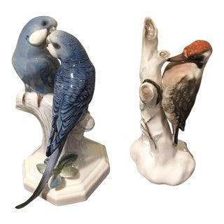 Vintage Rosenthal Bird Figurines - A Pair