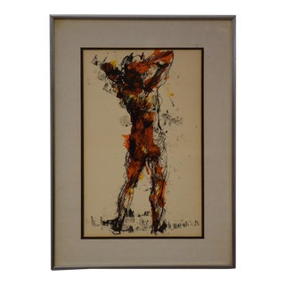 Ted Jaslow Abstract Nude Painting