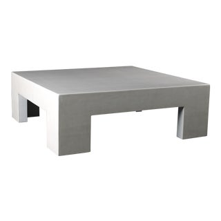 Low Square Table - Cream Lacquer