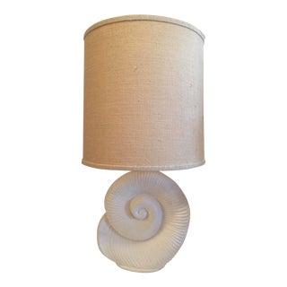 Plaster Nautilus Table Lamp