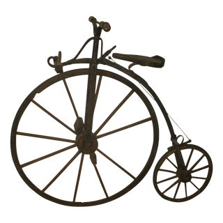 Antique Metal & Wood Bicycle