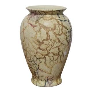1970s Vintage Tan Pottery Vase