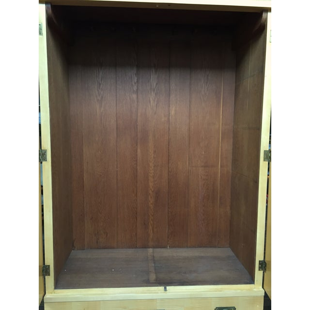 August Ungethum Vintage Art Deco Sycamore Cabinet - Image 5 of 8