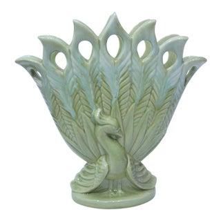 Royal Haeger Peacock Ceramic Vase