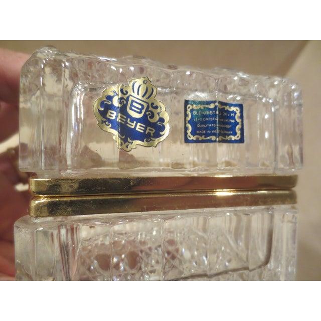 Vintage 1970s Beyer Crystal Glass Vanity Box - Image 6 of 7