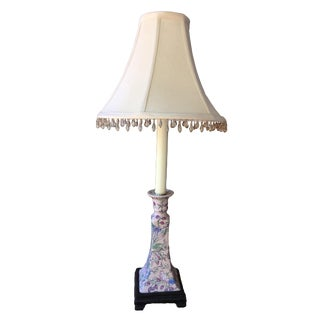 Chinese Floral Porcelain Table Lamp