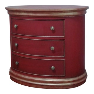 Hekman Furniture Red & Gold Oval Chest
