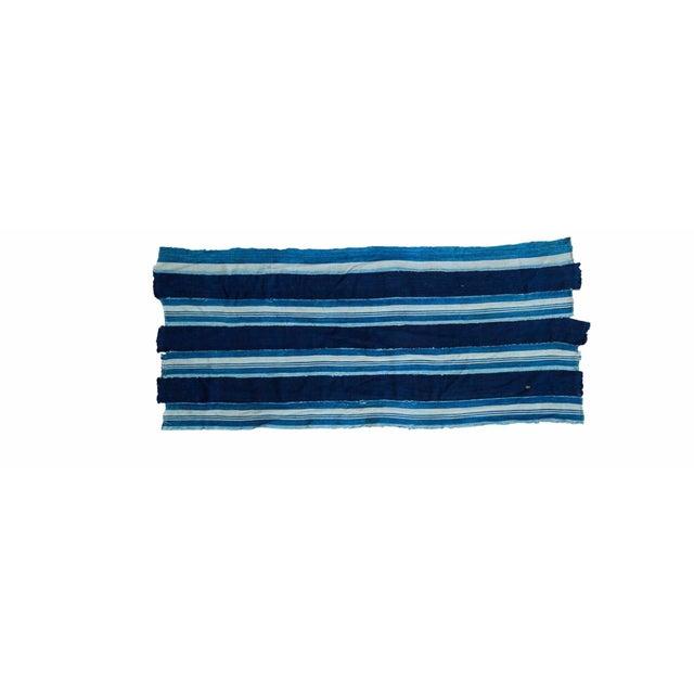 "Indigo Blue Striped Throw - 1'10"" x 4'3"" - Image 1 of 4"