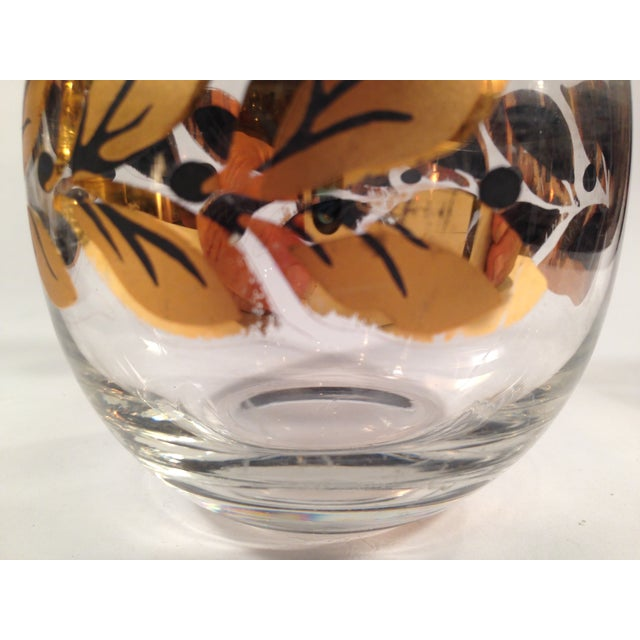 Image of Gold & Black Roly Poly Bar Glasses - S/6