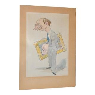 Humorous Original Cartoon Illustration c.1940s
