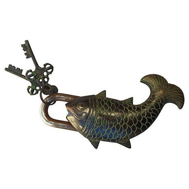 Tibetian Mystery Koi Fish Lock - Image 1 of 4