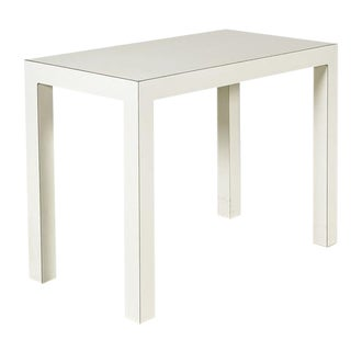 1970s Vintage White Console Parsons Table