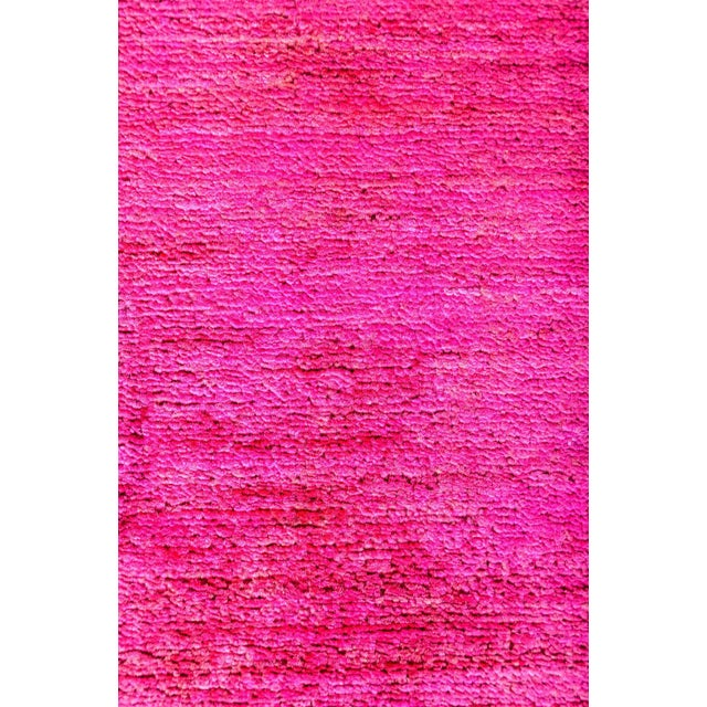Vibrance, Hand Knotted Hot Pink Wool Area Rug