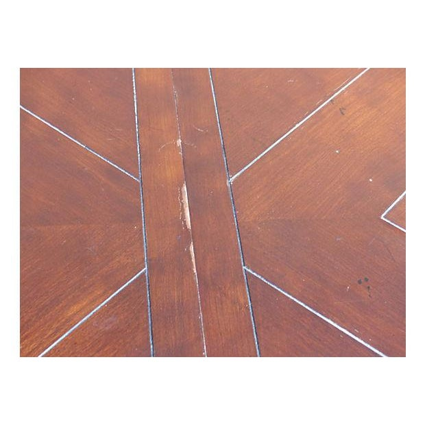 Extendable Parquet-Style Dining Table - Image 10 of 10