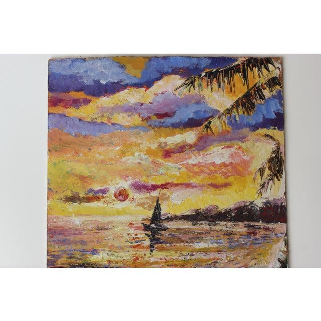 Errol Allen 1986 Jamaican Coastal Scene Painting - Image 3 of 5
