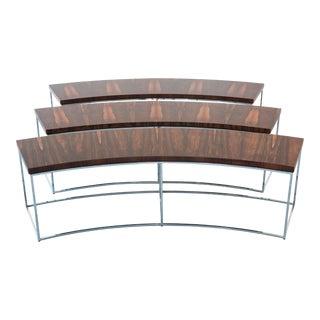Rare Milo Baughman Rosewood Benches, Set of Three