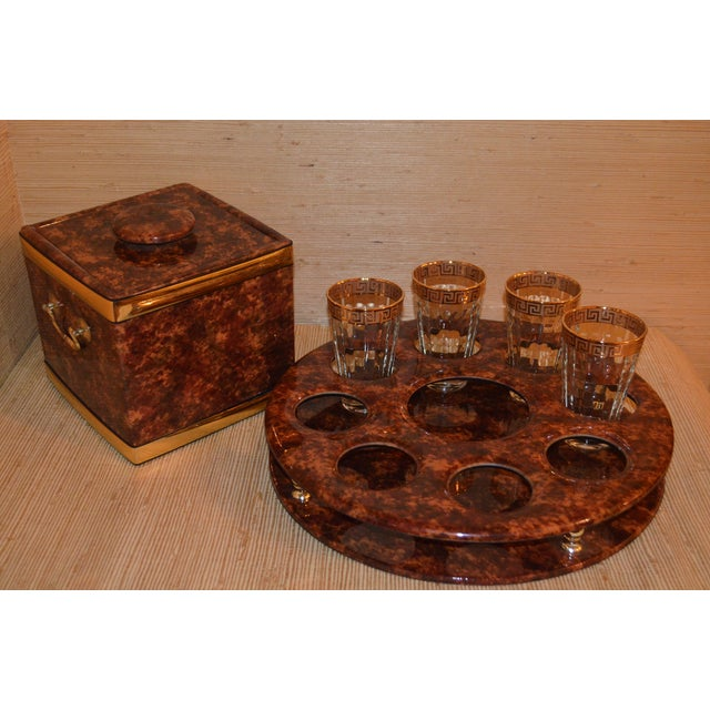 Image of Tortoise Shell Bar Caddy Set