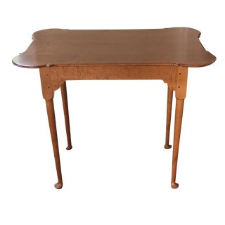 18th C. Antique Reproduction Wood Side Table