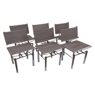 Bitsch Modern Chrome Chairs - Set of 6