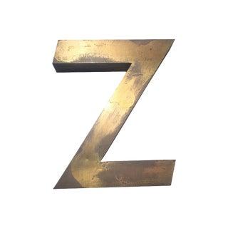 "Brass Letter ""Z"""