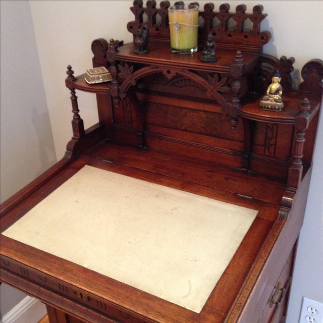 Antique Secretary Desk - Image 7 of 7