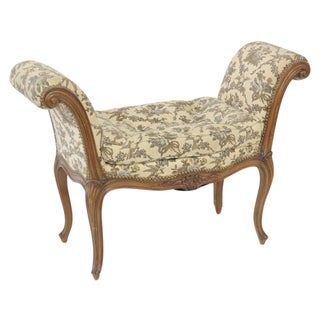 French Style Carved Window Seat