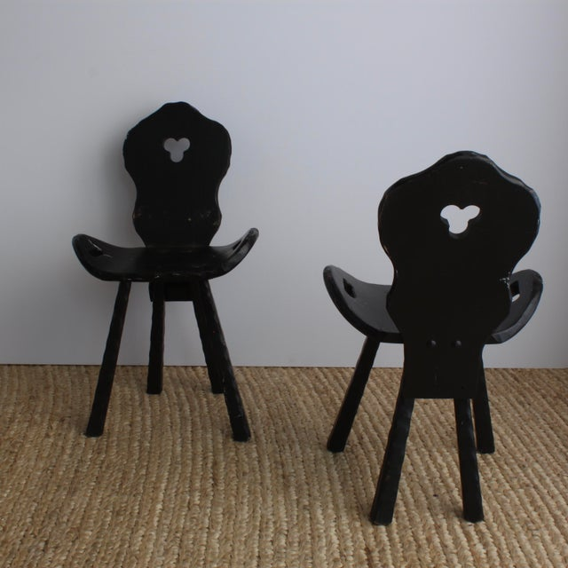 Image of French Mountain Style Rustic Chairs - Set of 2