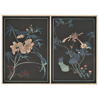 1925 Asian Art Deco Botanical Lithograph