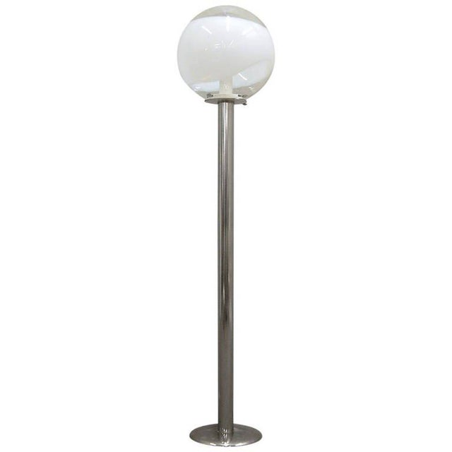 1960s Mazzega Style Tubular Chrome and Murano Glass Floor Lamp - Image 9 of 9