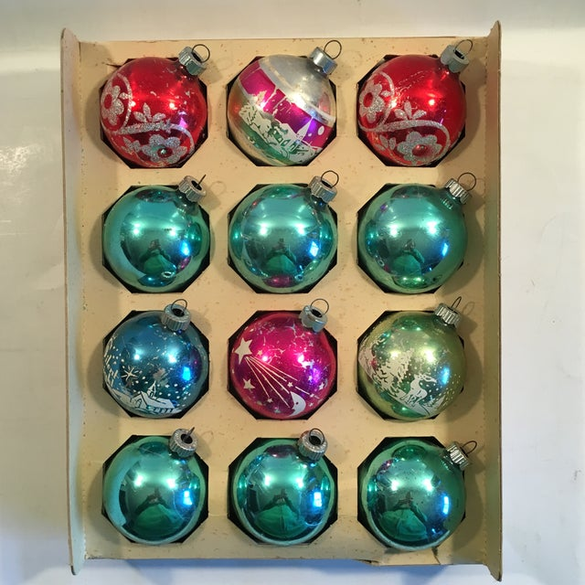 Vintage Shiny Brite Ornaments - Set of 12 - Image 3 of 9