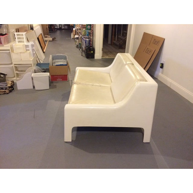 Danish Modern Fiberglass & Leather Sofa - Image 3 of 4
