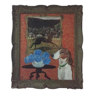 Original Judy Henn Horse & Hound Painting
