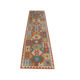 Multicolored Afghani Kilim Rug - 2′6″ × 9′4″