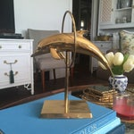Image of Palm Beach Regency Brass Dolphin Fish Figurine