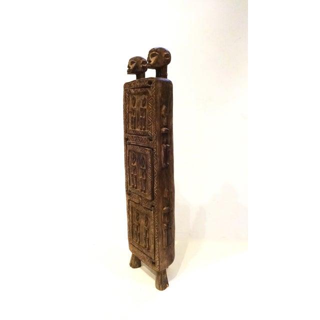 Image of Vintage Dogon Carved Wood Tobacco Leaf Box