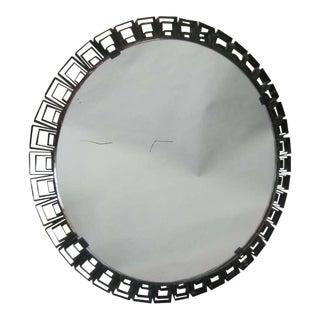Circular Italian Modern Neoclassical Mirror