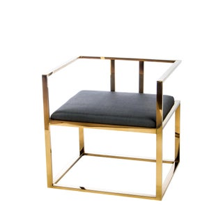 Gold Modern Stainless Steel Accent Chair