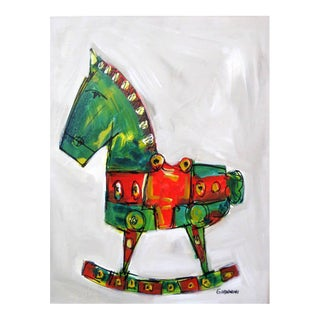 Rocking Horse Painting by Claudio Giannini