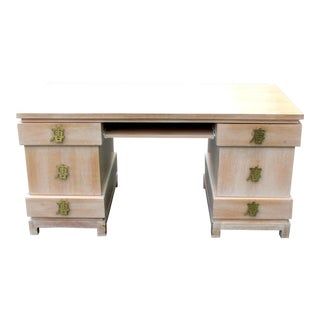 Asian Style Oversized Brass Hardware Desk
