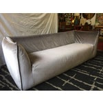 Image of Vintage Velvet Sofa in the Style of Mario Bellini