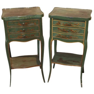 Pair of French Style Chinoiserie Stands