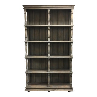 Gray Distressed Spindle Bookcase