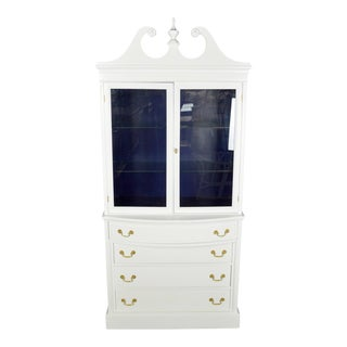 Vintage Navy & White Cabinet