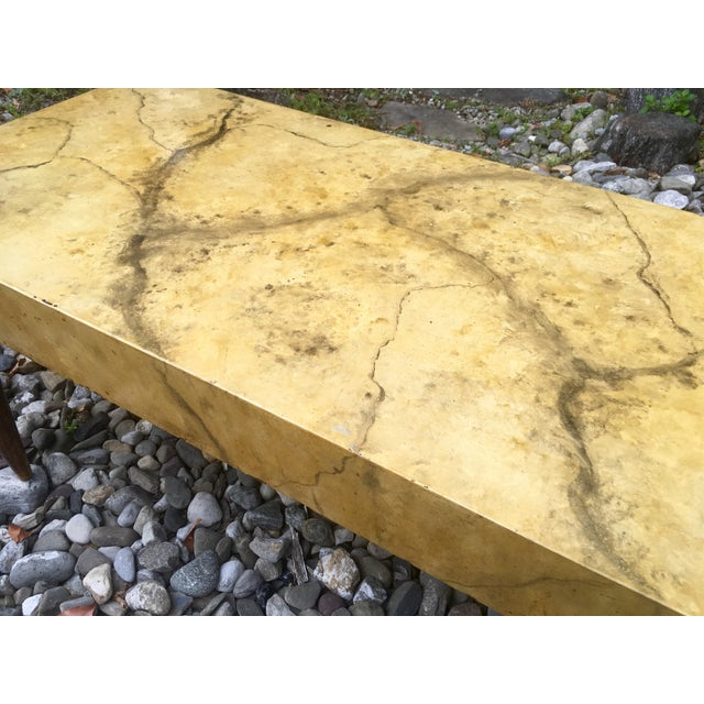 Mid Century Faux Marble Coffee Table - Image 5 of 7