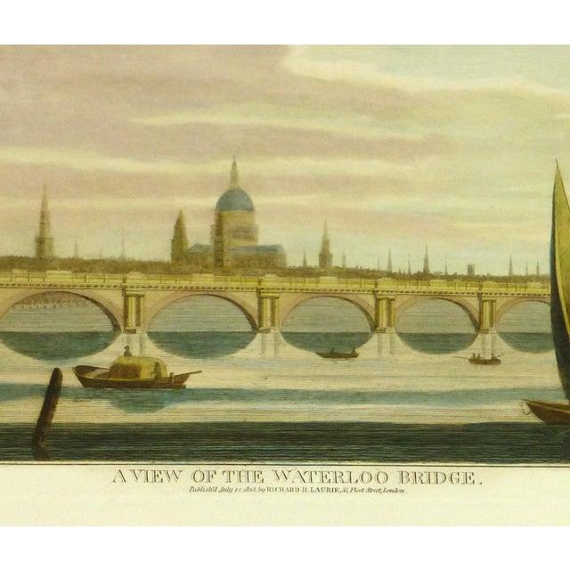 Waterloo Bridge Print, London Engraving - Image 2 of 3